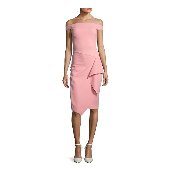 CHIARA BONI LA PETITE ROBE Kriti Off-the-Shoulder Draped Cocktail Dress - EXCLUSIVELY AT NEIMAN MARCUS (Aqua only) Chiara Boni La...