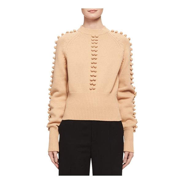 CHLOE Bauble-Detail Mock-Neck Sweater - Chlo sweater featuring bauble details at center front and...