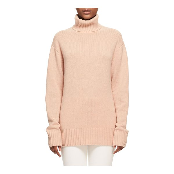 CHLOE Bicolor Iconic Cashmere Turtleneck Sweater - Chlo iconic sweater in bicolor knit. Contrast-ribbed...