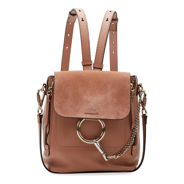 "CHLOE Faye Small Leather/Suede Backpack - Chloe calf leather and suede backpack. Approx. 7.8""H x..."