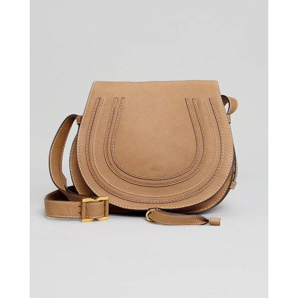 CHLOE Marcie Medium Leather Crossbody Bag - Pebbled calfskin leather; brass hardware. Adjustable