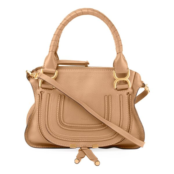 CHLOE Marcie Small Double-Carry Satchel Bag - Chloe soft leather satchel bag. Signature bow-shaped...