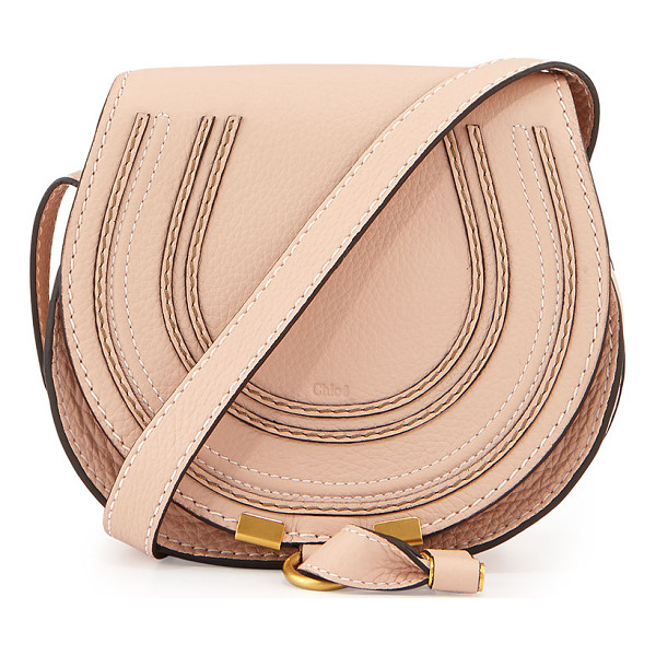 CHLOE Marcie Small Satchel Bag - Chloe pebbled calfskin satchel bag. Golden hardware....