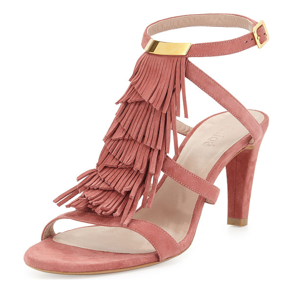 CHLOE Suede Strappy Fringe Sandal - ONLYATNM Only Here. Only Ours. Exclusively for You. Chloe...