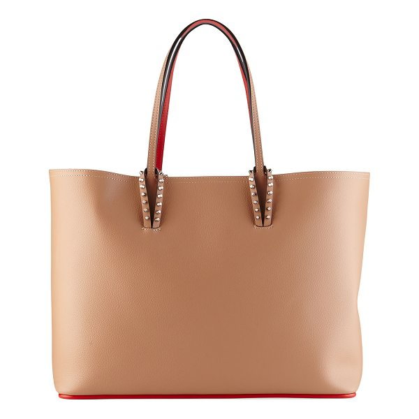 CHRISTIAN LOUBOUTIN Cabata East-West Leather Tote Bag - Christian Louboutin east-west tote bag in grained leather....