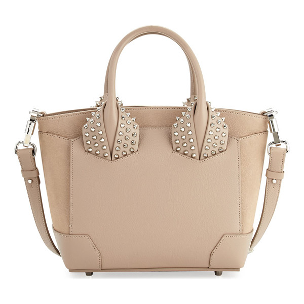 CHRISTIAN LOUBOUTIN Eloise Small Leather Spike Tote Bag - Christian Louboutin calf leather tote bag. Spike studded