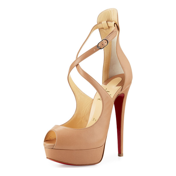 """CHRISTIAN LOUBOUTIN Marlenalta leather 150mm red sole pump - Christian Louboutin napa leather pump. 6. 25"""" covered..."""