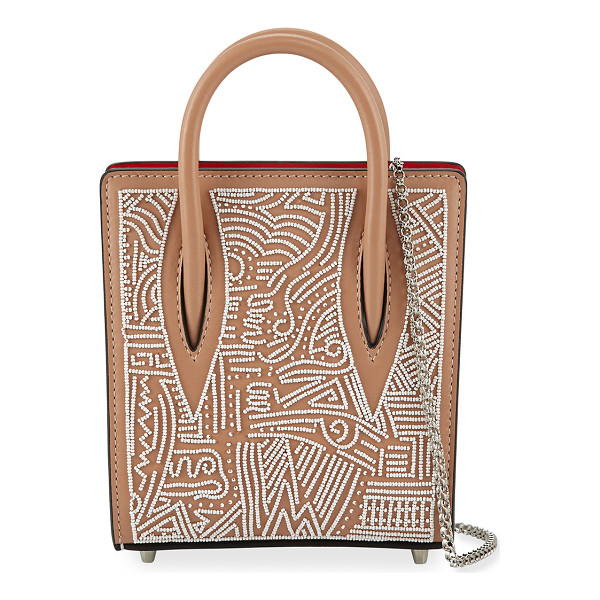 CHRISTIAN LOUBOUTIN Paloma Nano Beaded Tote Bag - Christian Louboutin geometric beaded calf leather tote bag.