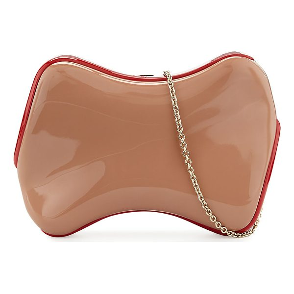 "CHRISTIAN LOUBOUTIN Shoespeaks Lacquered Clutch Bag - Christian Louboutin ""Shoespeaks"" lacquered clutch bag with..."