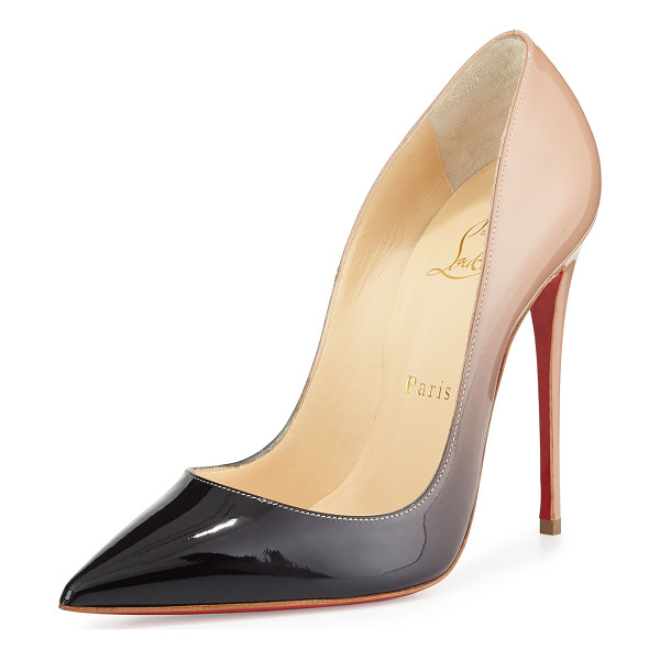 """CHRISTIAN LOUBOUTIN So Kate Degrade Red Sole Pump - Christian Louboutin pump in degrade patent leather. 4.8""""..."""