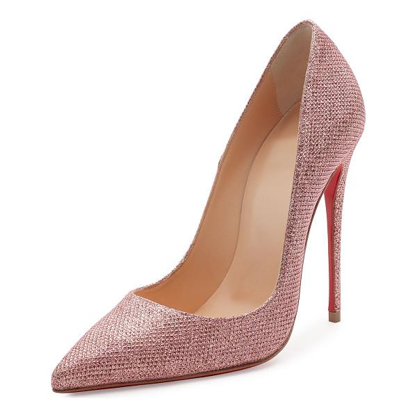 "CHRISTIAN LOUBOUTIN So Kate Glitter 120mm Red Sole Pump - Christian Louboutin glitter fabric pump. 4.8"" covered heel."