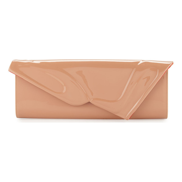 CHRISTIAN LOUBOUTIN So Kate Patent East-West Clutch Bag - Christian Louboutin patent leather clutch. Asymmetric...