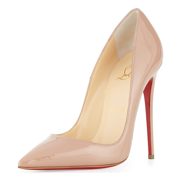 "CHRISTIAN LOUBOUTIN So Kate Patent 120mm Red Sole Pump - Christian Louboutin patent leather pump. 4.8"" covered"