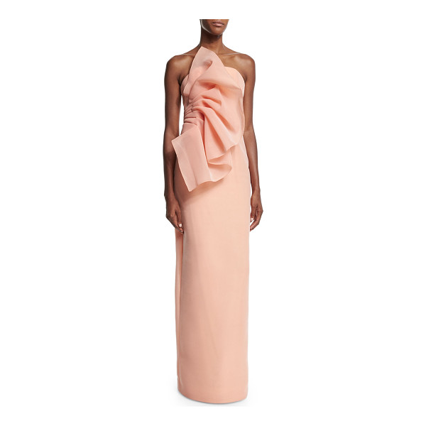 "CHRISTIAN SIRIANO Wild flower strapless column gown - Christian Siriano ""Wild Flower"" woven gown. Straight-cut..."