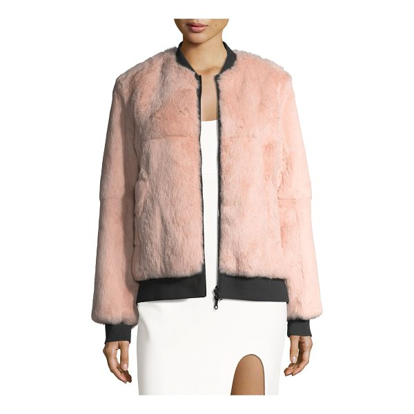 "CINQ A SEPT Corban Fur Reversible Bomber Jacket - Cinq Sept ""Corban"" reversible bomber jacket in dyed rabbit..."