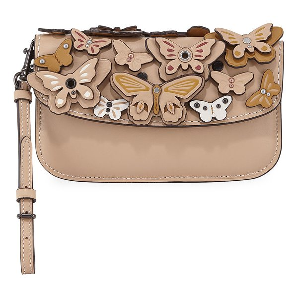 COACH Butterfly Large Wristlet Clutch Bag - EXCLUSIVELY AT NEIMAN MARCUS Coach 1941 leather clutch bag...