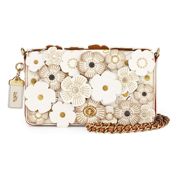 COACH Dinky Small Floral Crossbody Bag - Coach 1941 glovetanned leather crossbody with floral...