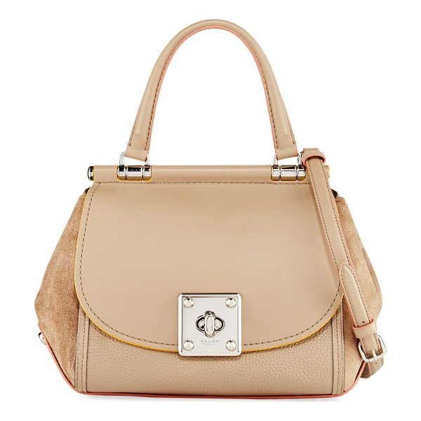 COACH Drifter Mixed Leather Top-Handle Bag - Coach top handle bag in mixed suede, smooth and pebbled...
