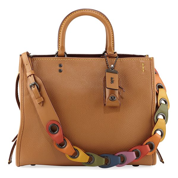 COACH Rogue Glove-Tanned Pebbled Tote Bag - Coach 1941 tote bag in glove-tanned pebbled leather with...