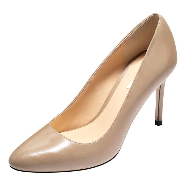 """COLE HAAN Bethany almond-toe leather pump - Cole Haan """"Bethany"""" almond-toe pump in smooth leather. 3...."""