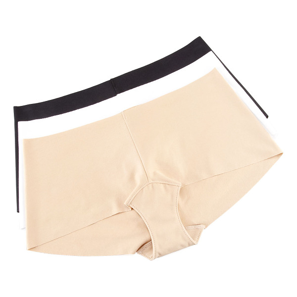COMMANDO Seamless cotton boy shorts - Choose nude, black, or white. Seamless invisible edges for...