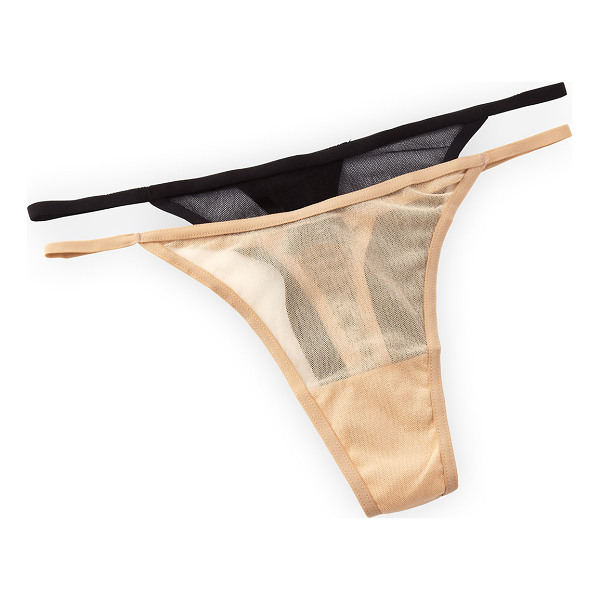 COSABELLA New soire low-rise thong - Choose blush or black microfiber mesh. Lightweight...