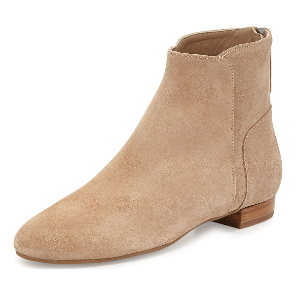 """DELMAN Myth suede ankle boot - Delman suede ankle boot. 0. 8"""" flat heel. Round toe. Tonal..."""