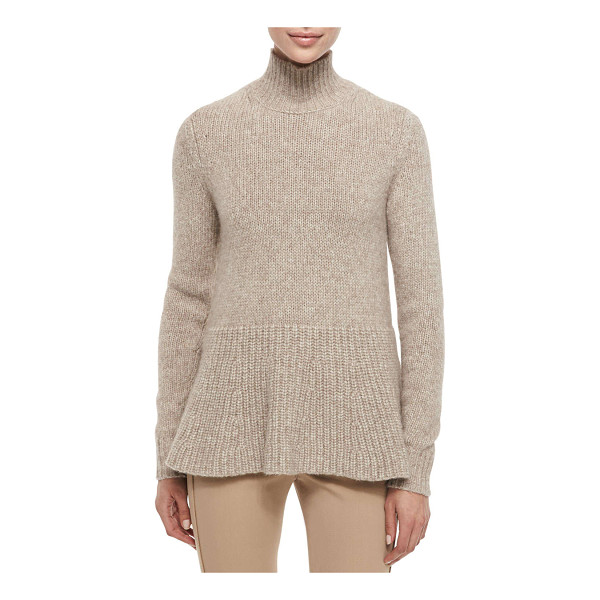 "DEREK LAM Alpaca peplum turtleneck sweater - Derek Lam knit sweater. Approx. 29""L shoulder to hem, 25""L..."