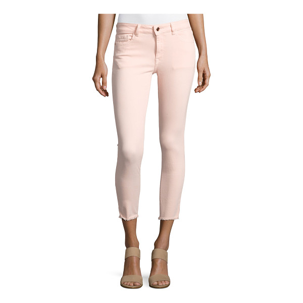 """DL 1961 Florence Instasculpt Cropped Jeans - DL 1961 """"Florence"""" jeans in pink-washed denim. Approx...."""