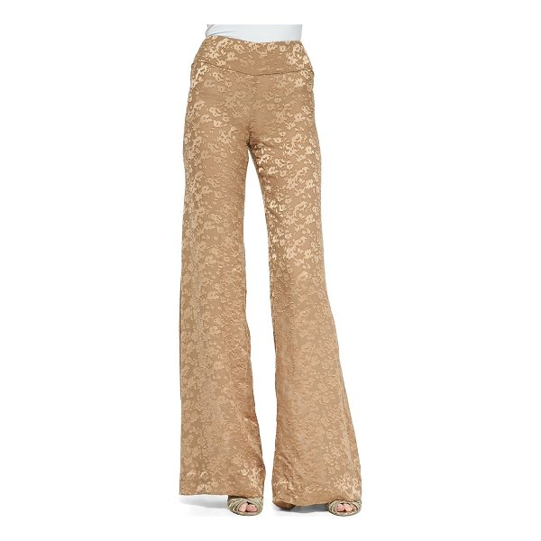 DONNA KARAN High-Waist Wide-Leg Pants - Donna Karan woven pants. Rise sits at the natural waist....