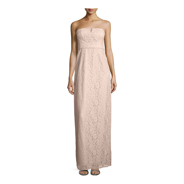 """DONNA MORGAN Strapless lace column gown - Donna Morgan lace evening gown. Approx. 62""""L from top to..."""