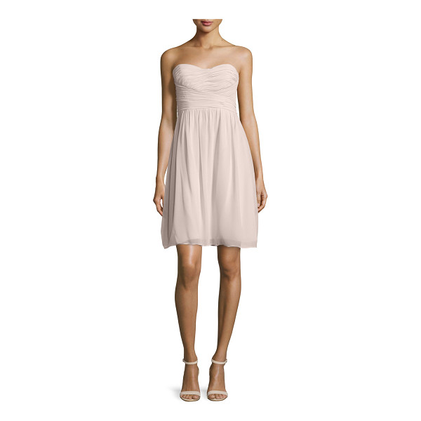 "DONNA MORGAN Strapless Ruched Cocktail Dress - Donna Morgan chiffon cocktail dress. Approx. 31""L from top..."