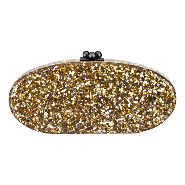 EDIE PARKER Edie Confetti Acrylic Clutch Bag - Edie Parker hand-poured acrylic clutch with golden...