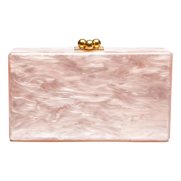 EDIE PARKER Jean Solid Acrylic Clutch Bag - Edie Parker hand-poured acrylic box clutch bag. Hinged...