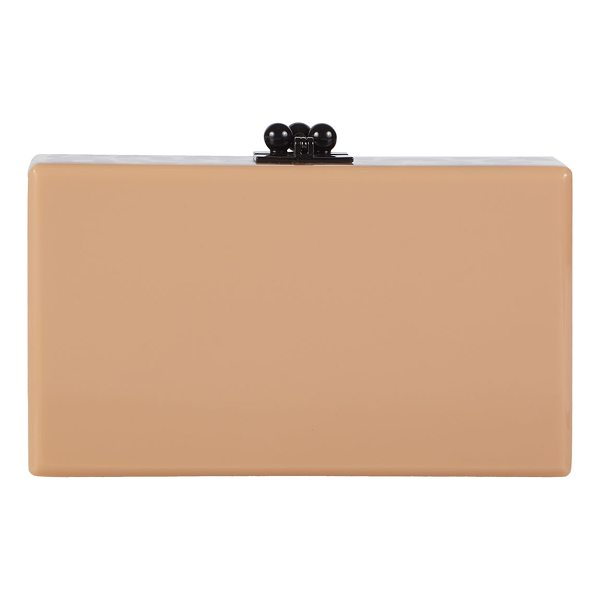 EDIE PARKER Jean Spots Acrylic Clutch Bag - Edie Parker hard shell clutch bag in hand-poured acrylic....