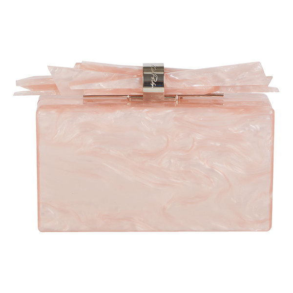 EDIE PARKER Wolf Glittered Acrylic Clutch Bag - Edie Parker glittered, hand-poured acrylic box clutch bag....