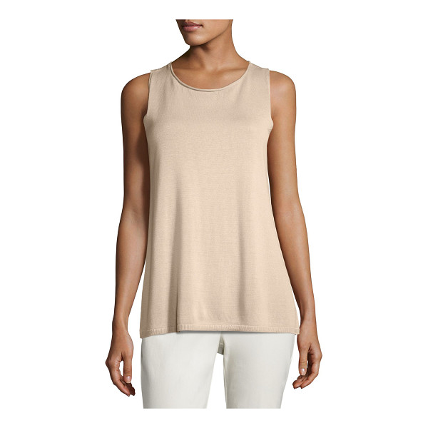 EILEEN FISHER Ballet-Neck Tank - Eileen Fisher stretch-knit tank. Ballet neckline....