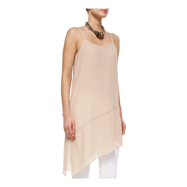 EILEEN FISHER Fisher project sheer silk asymmetric tunic/dress - Eileen Fisher sheer georgette tunic/dress with asymmetric...