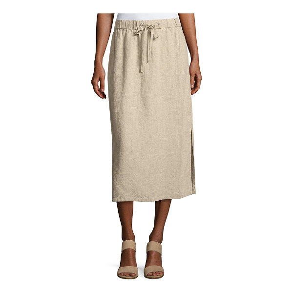 EILEEN FISHER Heavy Organic Linen Midi Skirt - Eileen Fisher midi skirt in heavy organic linen. Available...