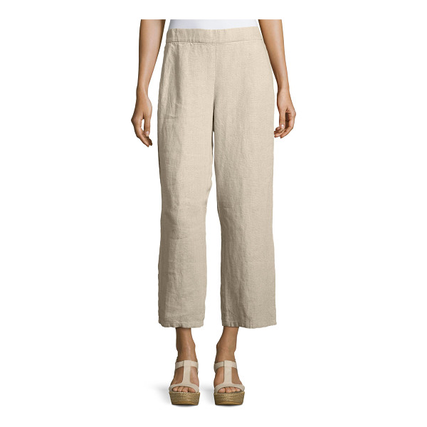 EILEEN FISHER Organic Linen Straight-Leg Ankle Pants - Eileen Fisher ankle pants in heavy organic linen. Available...