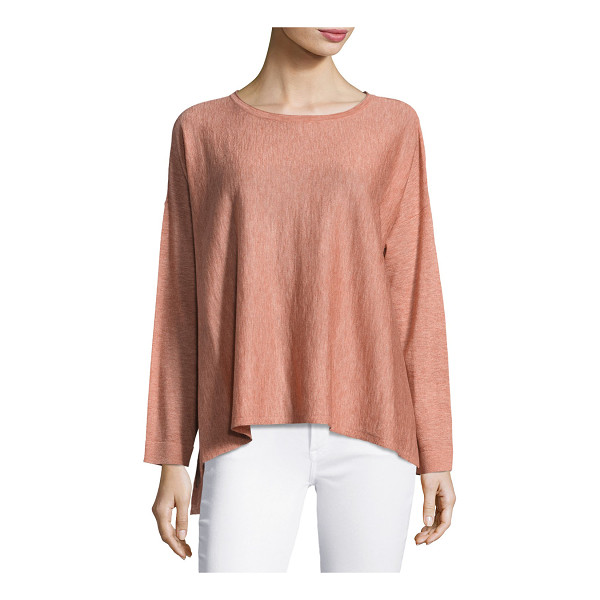"""EILEEN FISHER Scoop-Neck Easy Top - Eileen Fisher easy knit top. Approx. 26""""L from shoulder to..."""