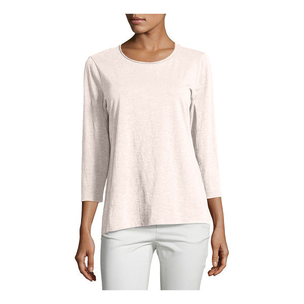 EILEEN FISHER Slubby Organic Cotton Jersey Top - Eileen Fisher top in soft, slubby organic cotton jersey....