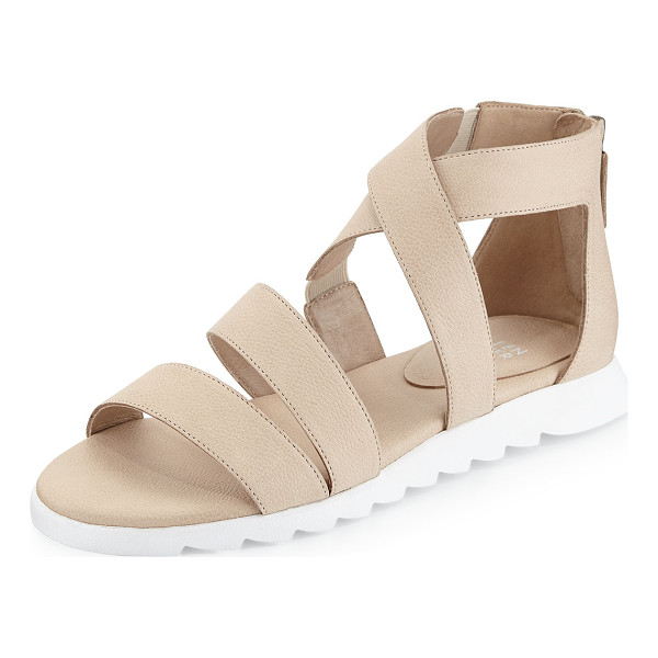 "EILEEN FISHER Zone leather multi-strap sandal - Eileen Fisher strappy leather sandal. 0. 75"" heel. Stretch..."
