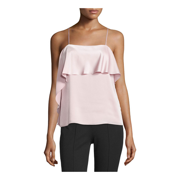 ELIZABETH AND JAMES Abby Layered Satin Tank - Elizabeth and James satin tank features asymmetric draping...