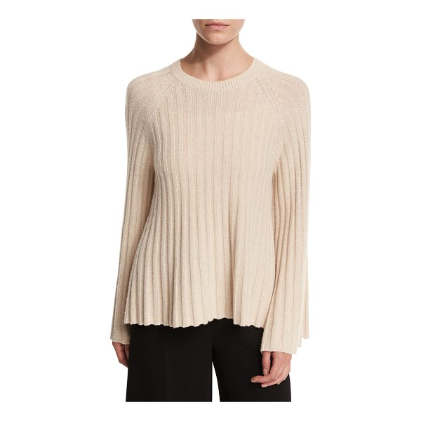 "ELIZABETH AND JAMES Baker Ribbed Crewneck Pullover Sweater - Elizabeth and James ""Baker"" sweater in ribbed knit. Approx...."