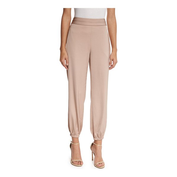 "ELIZABETH AND JAMES Pascal Tapered Stretch Jersey Pants - Elizabeth and James ""Pascal"" mid-rise pants in stretch..."