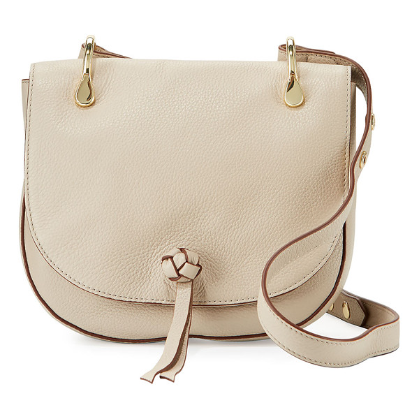 ELIZABETH AND JAMES Zoe Leather Saddle Bag - Elizabeth and James pebbled calf leather saddle bag. Golden