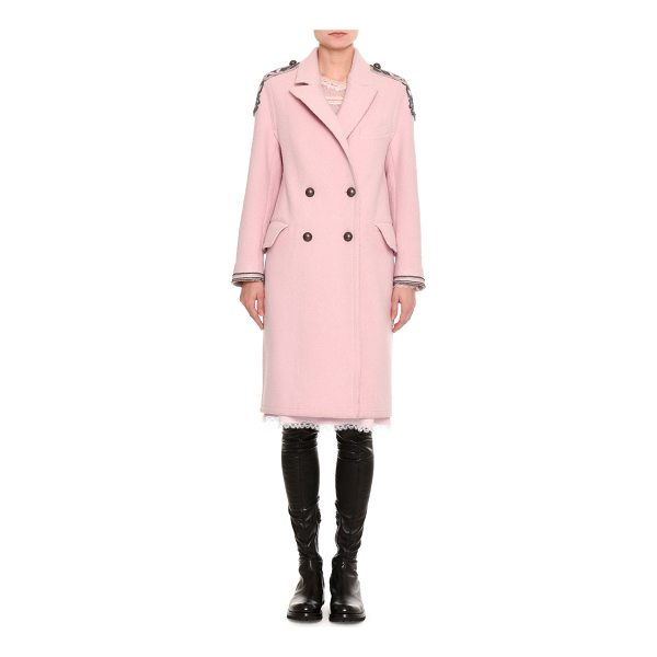 ERMANNO SCERVINO Embroidered Double-Breasted Virgin Wool Coat - Ermanno Scervino double-breasted coat from the Fall 2017...