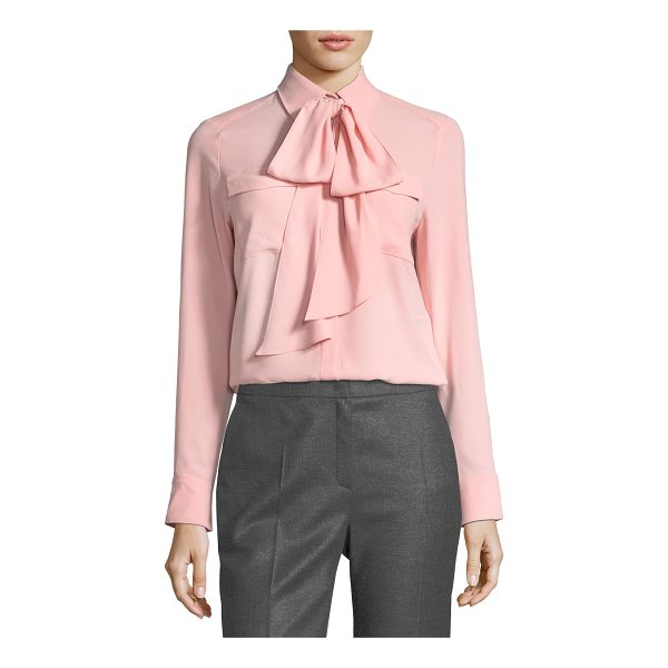 ESCADA Crepe Necktie Blouse - Escada crepe blouse. Spread collar with removable necktie....