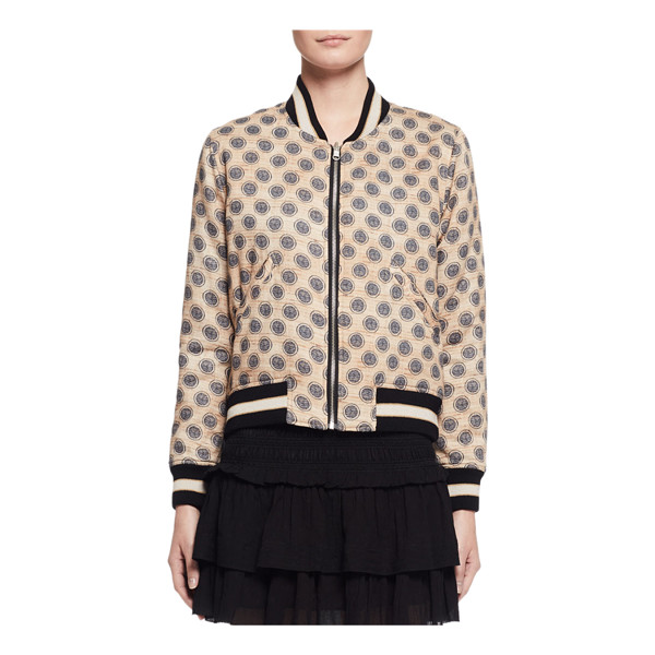 "ETOILE ISABEL MARANT Dabney Reversible Cotton Bomber Jacket - Etoile Isabel Marant ""Dabney"" bomber jacket in polka dots..."